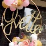 ideas para decorar fiestas de xv años con aros de hula hula
