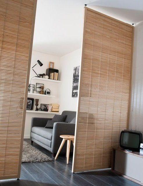 Dividir espacios sin levantar paredes con puertas corredizas