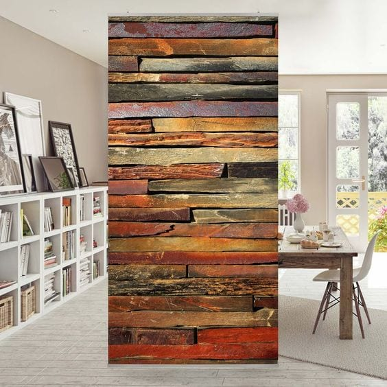 Ideas para dividir espacios interiores con biombos tapizados