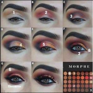 Como pintar el ojo con sombras color nude