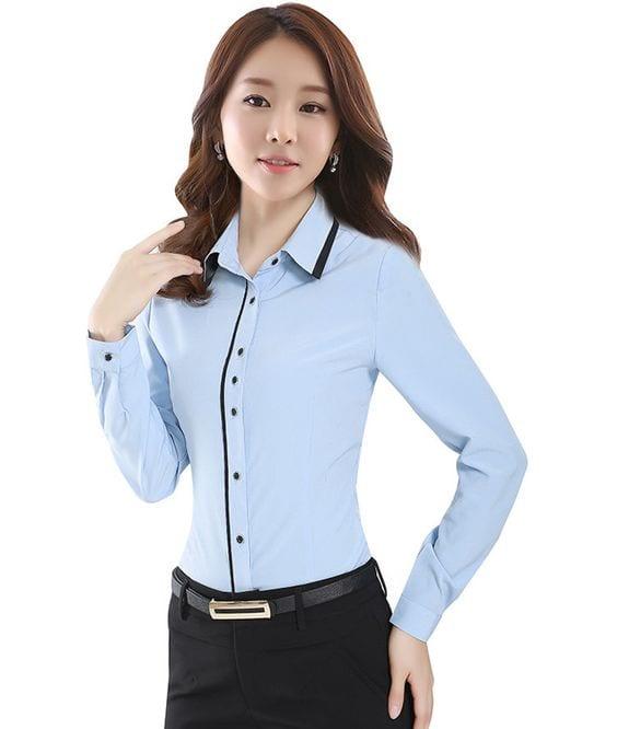 Blusas ejecutivas 2019 tipo camisa