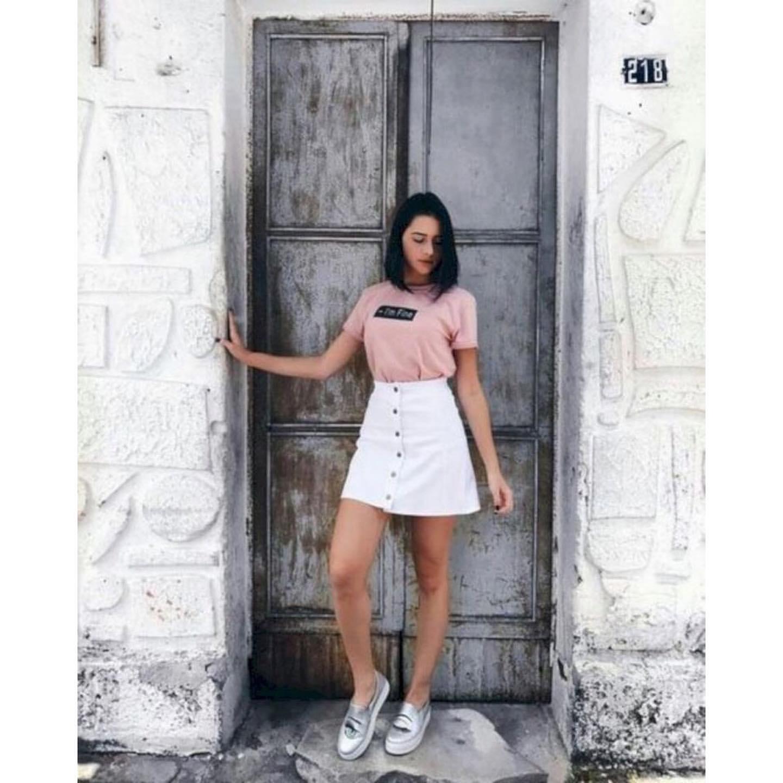 look con faldas de moda para adolescentes mujeres