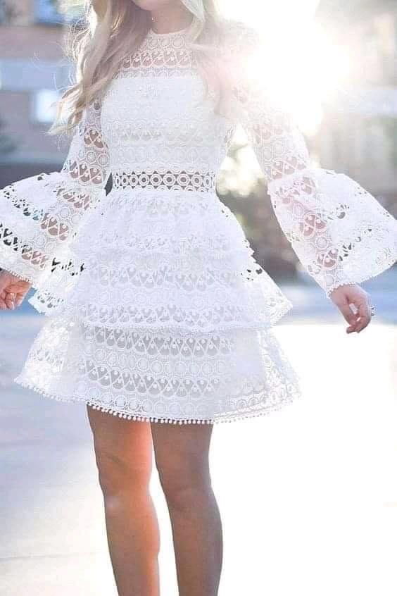 Capas para vestido con encaje en color blanco para mujeres mayores de 40 años