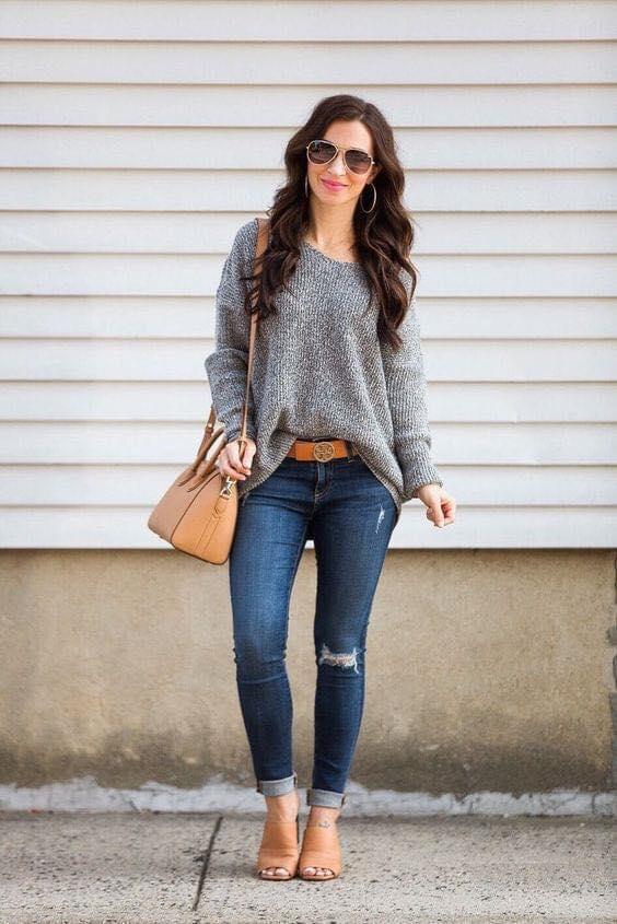 Estilo irregular para maxi suéter de mujeres de 40 años o más