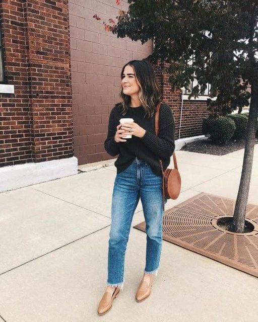Fajado francés para maxi suéter en outfit casual