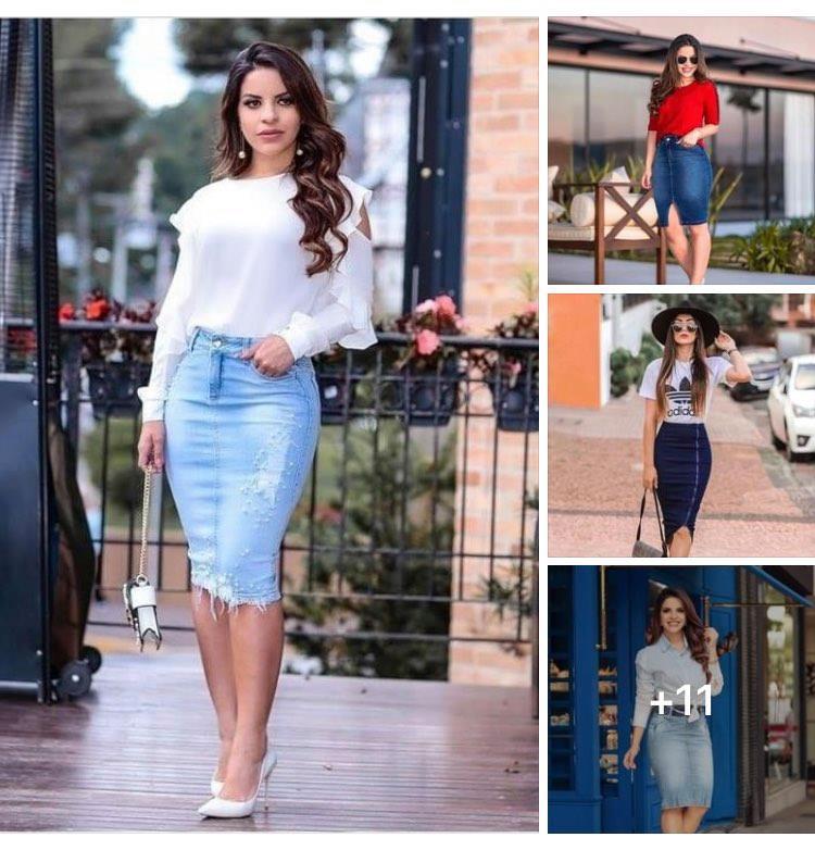 Ideas para usar faldas de mezclilla para mujeres maduras