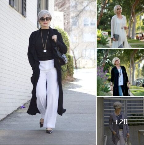 Outfits para mujeres maduras con suéter largo