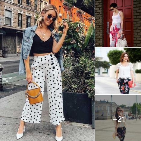 Pantalones estampados para mujeres de 40 años o más