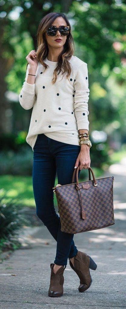 Patrón de círculos de suéter sencillo para mujeres de 40 años o más