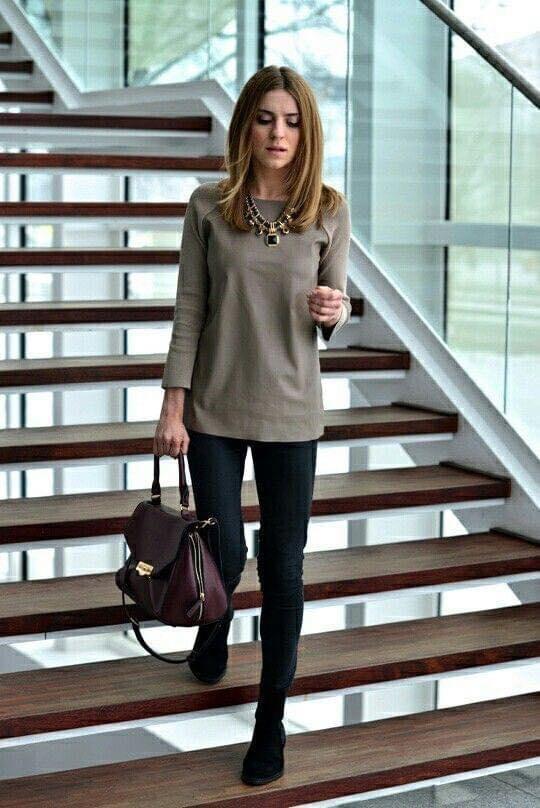 Suéter liso para mujeres maduras de más de 40 años