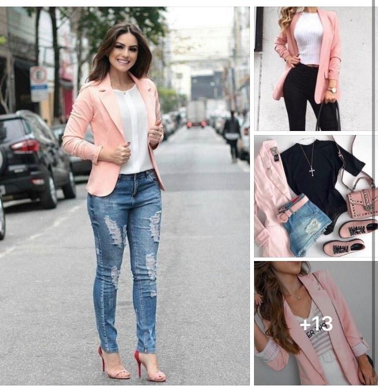Tendencias de blazers rosas para mujeres maduras modernas y elegantes