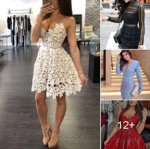 Vestidos de encaje para mujeres mayores para 40 años