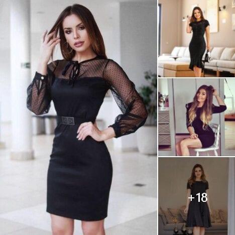 Vestidos negros para mujeres maduras