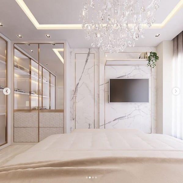 Accesorios decorativos para un dormitorio elegante
