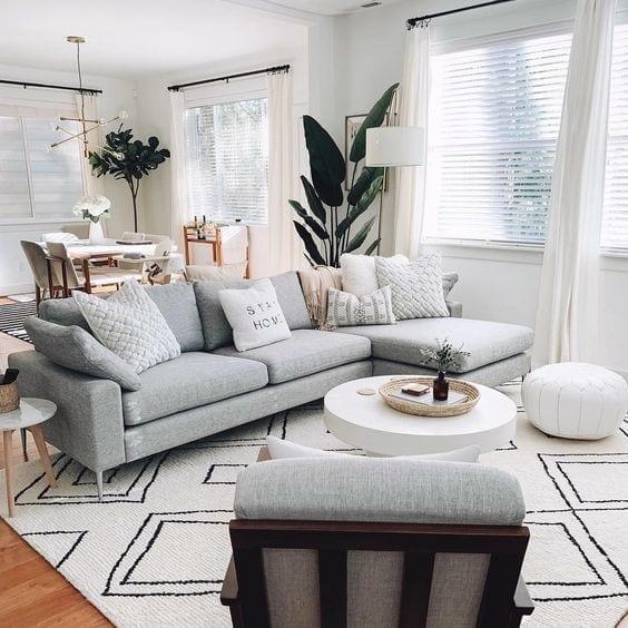 Decoración de espacios abiertos en salas pequeñas