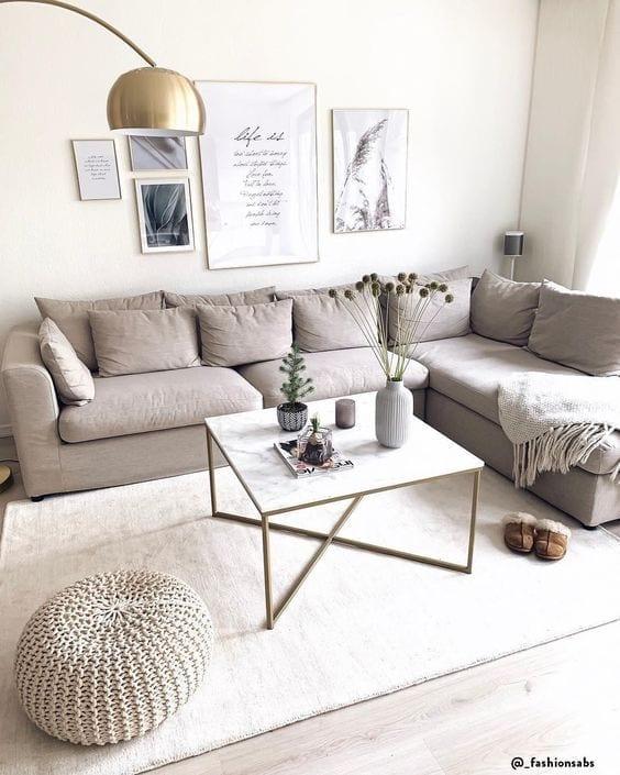 Decorar una sala pequeña en colores claros