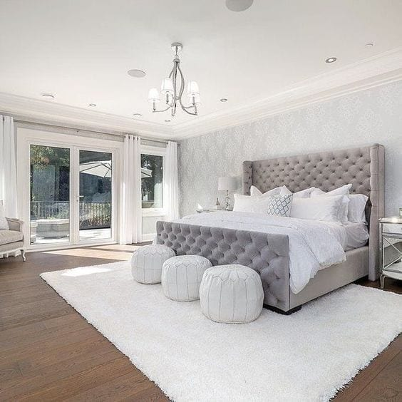 Dormitorios elegantes en colores claros