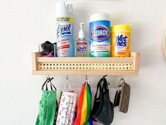 Ideas para poner una estación sanitizante en casa