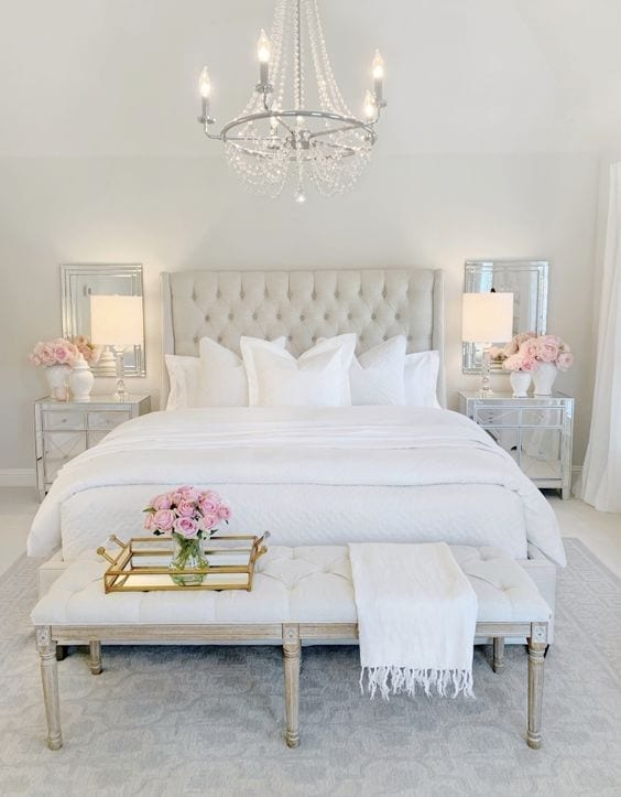 La organización es clave en dormitorios elegantes