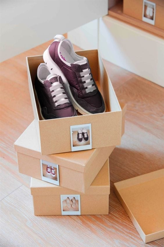 Utilizar cestas y cajas organizadoras