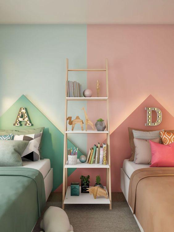Accesorios decorativos en cuartos compartidos niño y niña