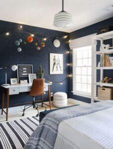 Área de trabajo o estudio en dormitorios adolescentes