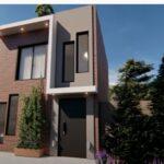 Casa pequeña de 5x7 metros con 2 dormitorios