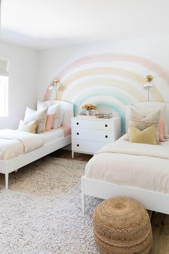Colores para cuartos compartidos niño y niña