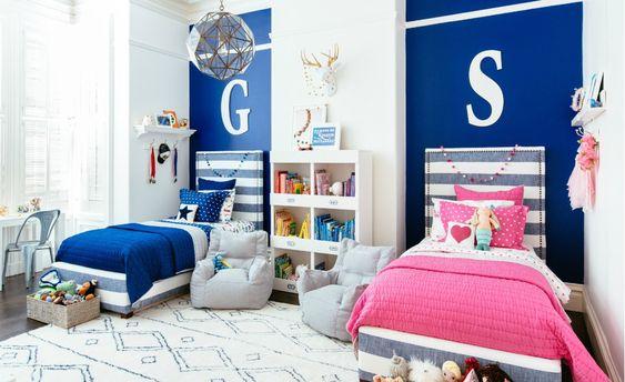 Como acomodar las camas en cuartos compartidos niño y niña