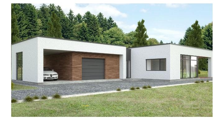 Diseño de casa minimalista con cochera doble