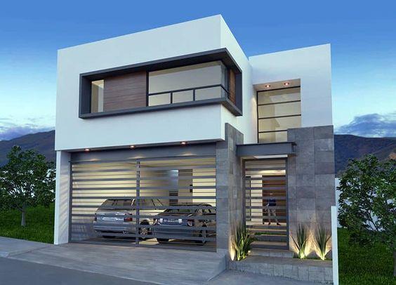 Diseños de casas modernas de dos pisos