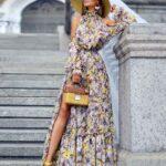 Diseños de maxi vestidos de moda floreados