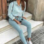 Ideas de outfits con converse blancos y jeans