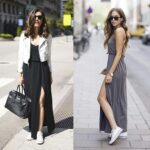 Lindos outfits con converse blancos y vestidos