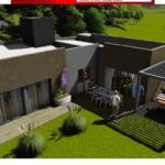 Modelo de casa de dos habitaciones