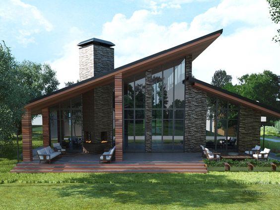 Modelos de casas de campo modernas