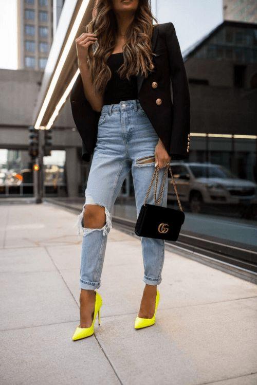Outfits casuales con tacón