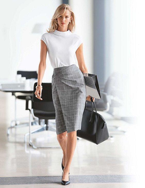 Outfits con faldas lápiz para el trabajo