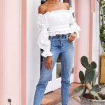 Outfits con tacones blancos