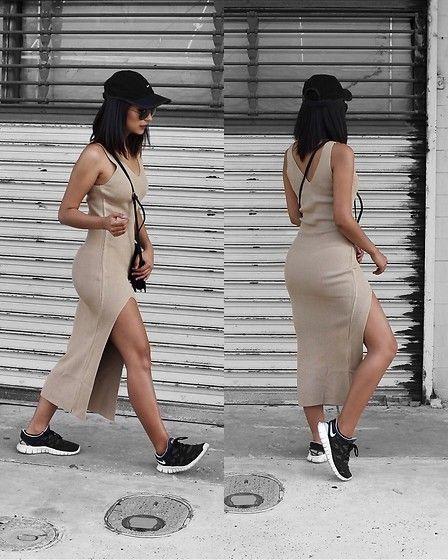 Outfits con vestido y tenis