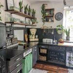 Salpicaderos de cocina con pintura de pizarra