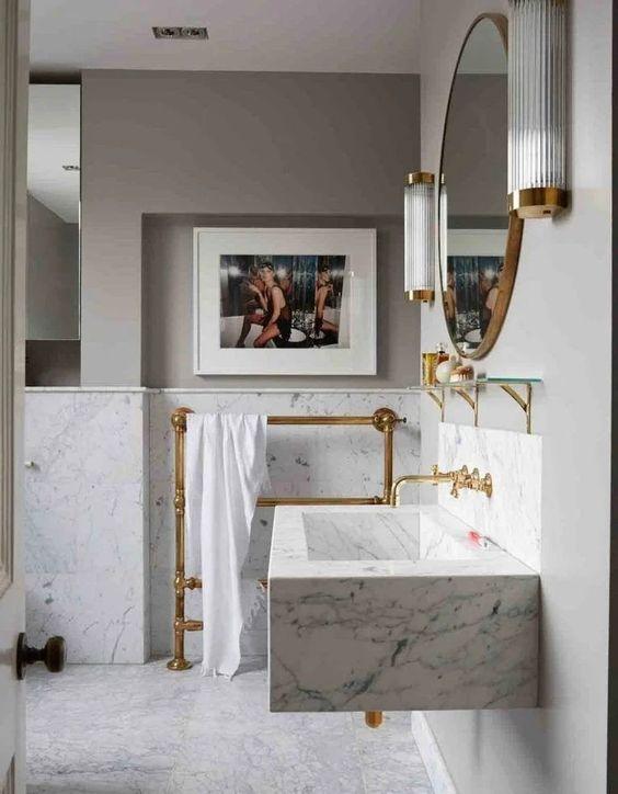 Accesorios decorativos para baños elegantes