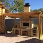 Barbacoas de obra para una terraza al aire libre