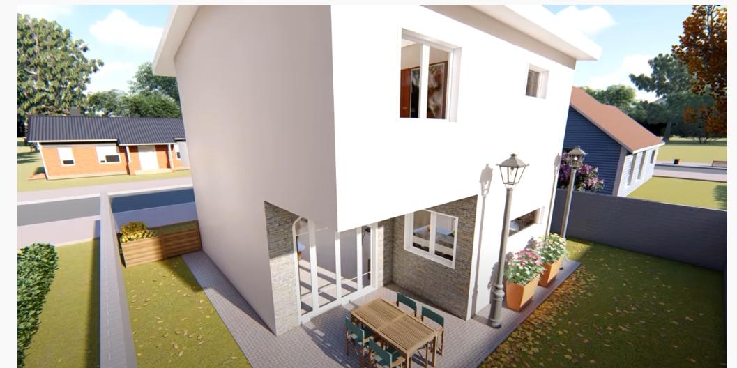 Casa DUPLEX 7X8m con 3 dormitorios