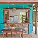Casas de campo modernas y coloridas
