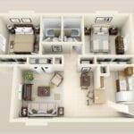 Casas de dos dormitorios