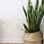 Decoración con papel tapiz