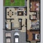 diseño de plano de casa moderna