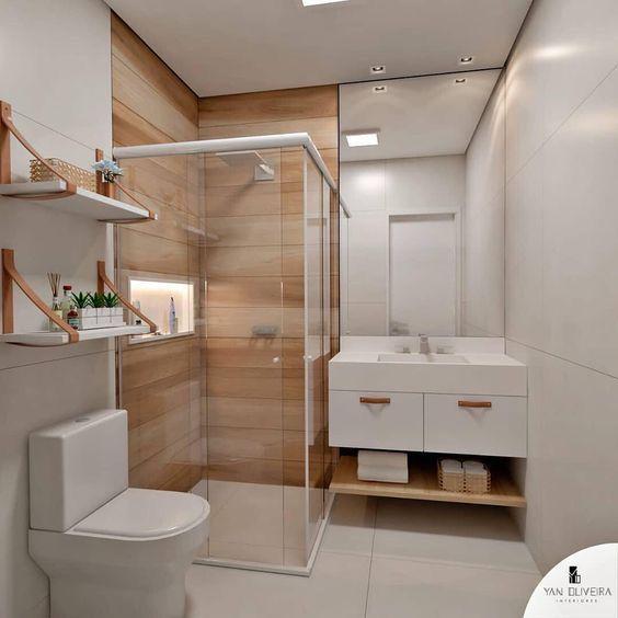Distribución de un baño elegante