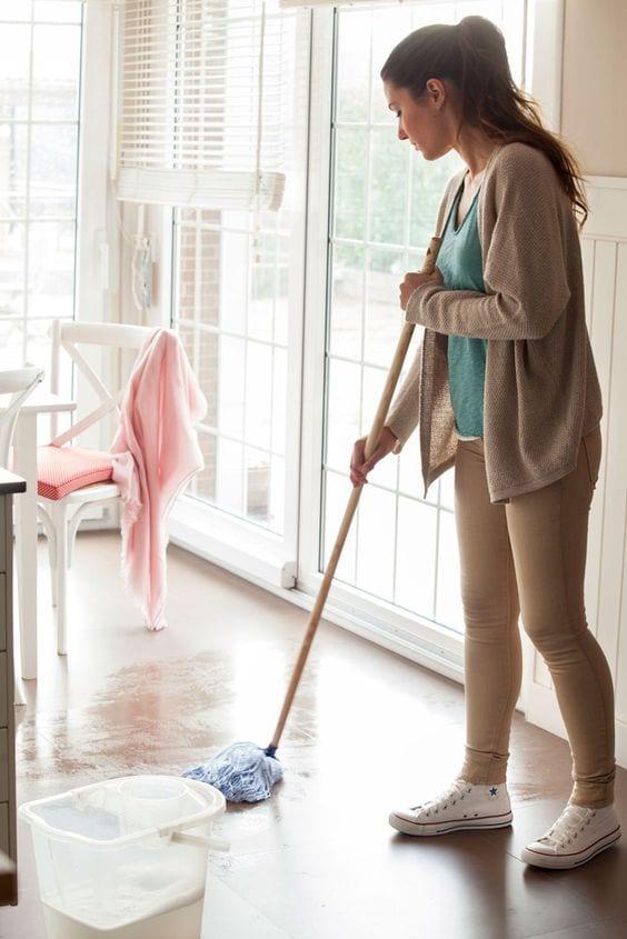 Fíjate un tiempo para limpieza diario